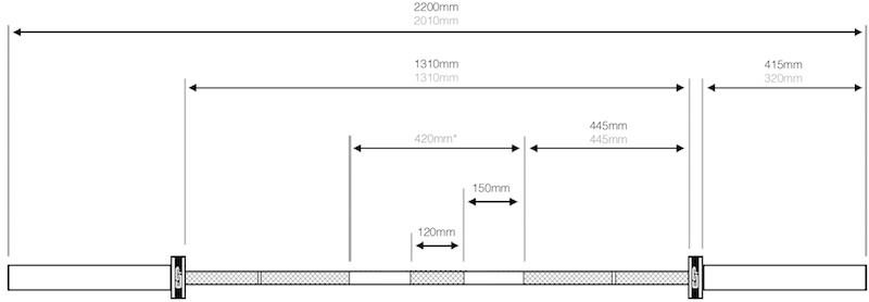 6 Foot Bench Press Bar